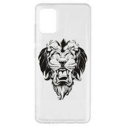 Чехол для Samsung A51 Muzzle of a lion