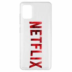 Чехол для Samsung A51 Netflix logo text