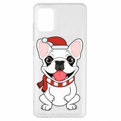Чехол для Samsung A51 New Year's French Bulldog