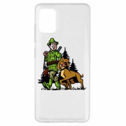 Чохол для Samsung A51 Мисливець з собакою