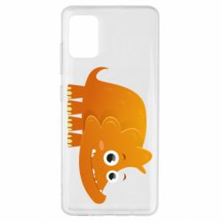 Чехол для Samsung A51 Orange dinosaur