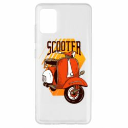 Чохол для Samsung A51 Orange scooter