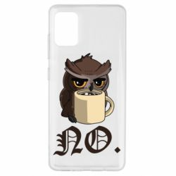 Чехол для Samsung A51 Owl and coffee