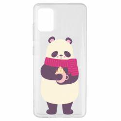 Чехол для Samsung A51 Panda and Cappuccino