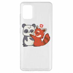 Чохол для Samsung A51 Panda and fire panda