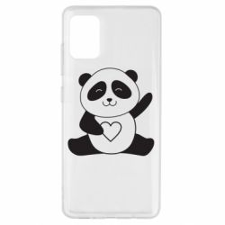Чохол для Samsung A51 Panda and heart
