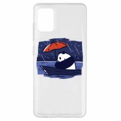 Чехол для Samsung A51 Panda and rain