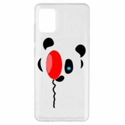 Чехол для Samsung A51 Panda and red balloon
