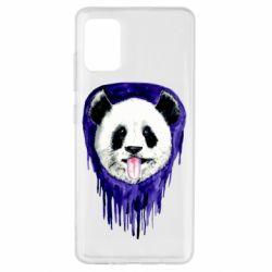 Чехол для Samsung A51 Panda on a watercolor stain