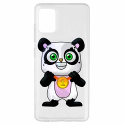 Чехол для Samsung A51 Panda with a medal on his chest
