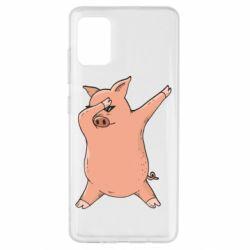 Чохол для Samsung A51 Pig dab