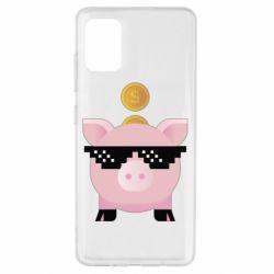 Чохол для Samsung A51 Piggy bank