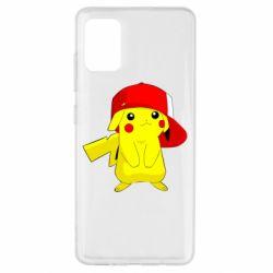 Чехол для Samsung A51 Pikachu in a cap