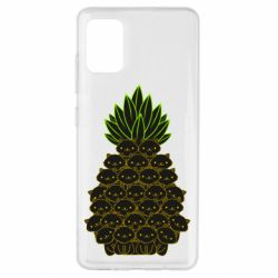 Чехол для Samsung A51 Pineapple cat