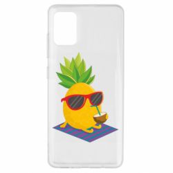 Чехол для Samsung A51 Pineapple with coconut