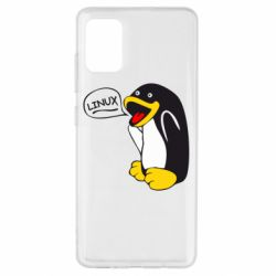 Чехол для Samsung A51 Пингвин Линукс