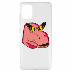 Чохол для Samsung A51 Pink dinosaur with glasses head