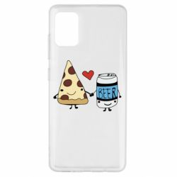 Чохол для Samsung A51 Pizza and beer