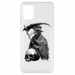 Чехол для Samsung A51 Plague Doctor graphic arts