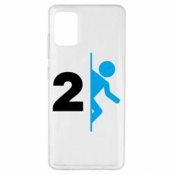 Чехол для Samsung A51 Portal 2 logo