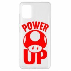 Чехол для Samsung A51 Power Up гриб Марио