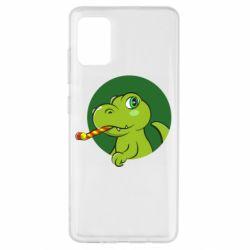 Чохол для Samsung A51 Святковий динозавр