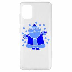 Чохол для Samsung A51 Прикольний дід мороз