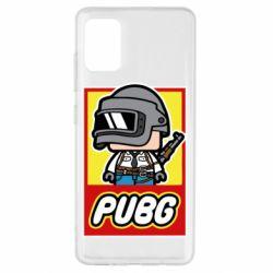 Чехол для Samsung A51 PUBG LEGO