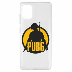 Чехол для Samsung A51 PUBG logo and game hero