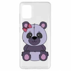 Чохол для Samsung A51 Purple Teddy Bear