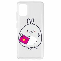 Чохол для Samsung A51 Rabbit with a letter