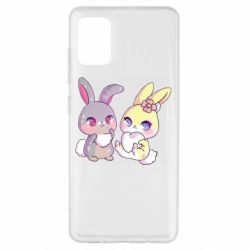 Чохол для Samsung A51 Rabbits In Love