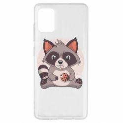 Чохол для Samsung A51 Raccoon with cookies