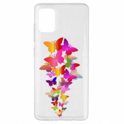 Чохол для Samsung A51 Rainbow butterflies
