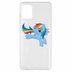 Чохол для Samsung A51 Rainbow Dash run