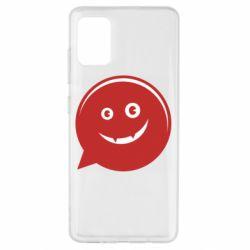 Чехол для Samsung A51 Red smile