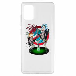 Чохол для Samsung A51 Rick and Morty as Ghostbusters