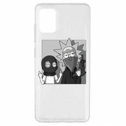 Чехол для Samsung A51 Rick and Morty Bandits
