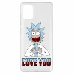 Чохол для Samsung A51 Rick and Morty fack and love you