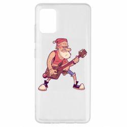 Чохол для Samsung A51 Rock'n'roll Santa