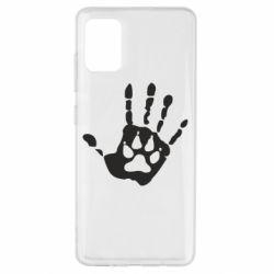 Чехол для Samsung A51 Рука волка