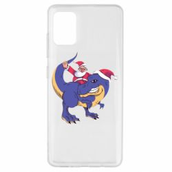 Чехол для Samsung A51 Santa and T-Rex