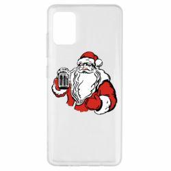 Чехол для Samsung A51 Santa Claus with beer