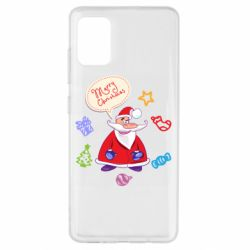 Чехол для Samsung A51 Santa says merry christmas