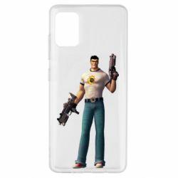Чехол для Samsung A51 Serious Sam with guns