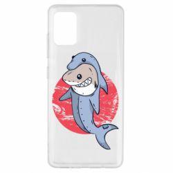 Чехол для Samsung A51 Shark or dolphin
