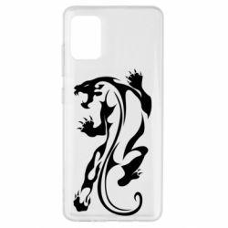 Чехол для Samsung A51 Silhouette of a tiger