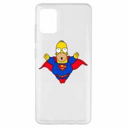 Чехол для Samsung A51 Simpson superman