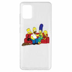 Чехол для Samsung A51 Simpsons At Home
