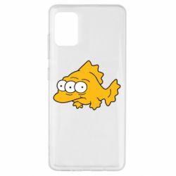 Чехол для Samsung A51 Simpsons three eyed fish